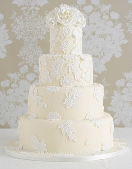 Mariage - Special Wedding Cakes ♥ Wedding Cake Fondant délicieux