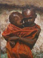 Child Mother I | 2009 Acrylic on canvas | 300 x 400 #RosKochArt