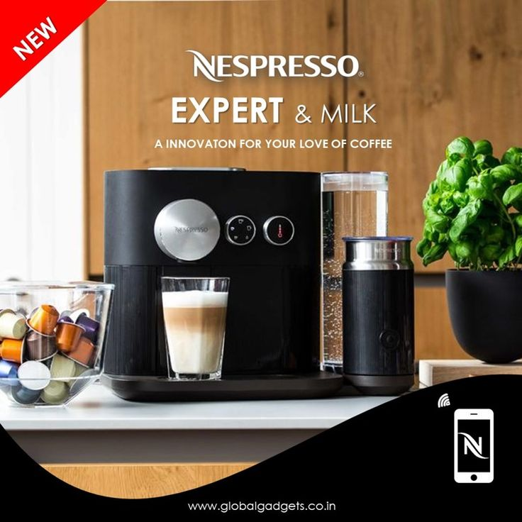 nespresso expert milk enables you to create your own. Black Bedroom Furniture Sets. Home Design Ideas
