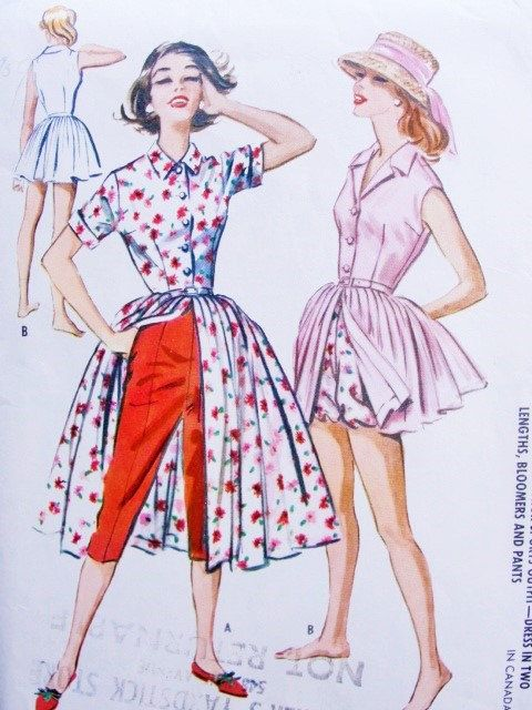 1950s Beach Wear Pattern McCalls 4533