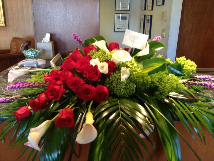 Tropical casket spray: Casket Sprays, Flowers Shops