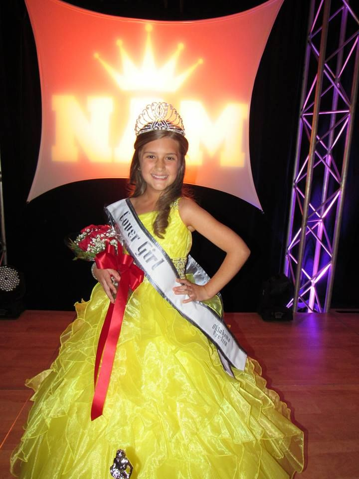 Just crowned your 2015 Miss Oklahoma Pre-Teen Cover Girl Arianna Eakle! #NAM #NationalAmericanMiss #BeYou #DreamBig