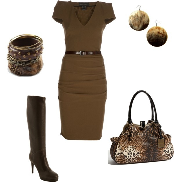 .: Office, Fashionista, Style, Bag, Dresses, The Dress, Brown, Work Outfits