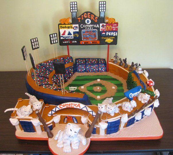 Detroit Tigers Comerica Park Cake - my wedding cake??? I think so!!!!