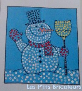 fingerprint snowman craft   Crafts and Worksheets for Preschool,Toddler and Kindergarten