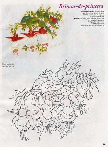 80 best borduur morning glory patrone images on pinterest - Patrones para pintar en tela ...