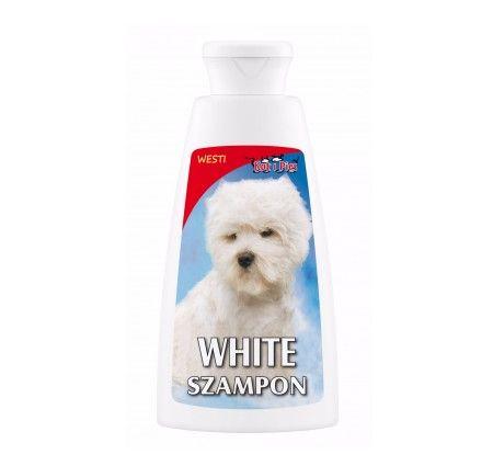 Dermapharm Szampon White sierść biała. Delikatny szampon dla psów o białej i jasnej sierści, rozświetla i delikatnie rozjaśnia naturalny kolor umaszczenia. Zawarty w preparacie aloes nawilża skórę i okrywę włosową, nadając jednocześnie sierści połysk i blask. Idealne rozwiązanie dla utrzymania czystości i zadbanego wyglądu.