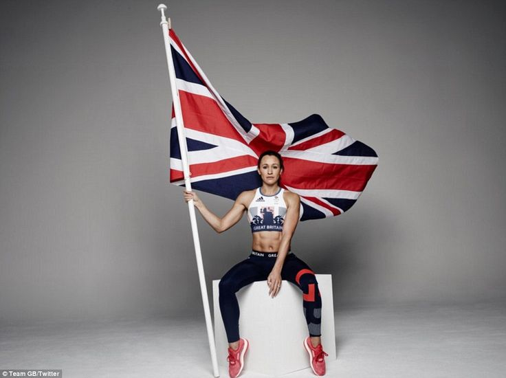 World champion and Olympic gold medal-winning heptathlete Jessica Ennis-Hill models the new Great Britain Adidas kit for the Olympics in Rio in 2016