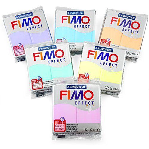 Horno de polímero FIMO Efecto modelar arcilla–57G–Juego de 6–Pastel acabado #Horno #polímero #FIMO #Efecto #modelar #arcilla–G–Juego #–Pastel #acabado
