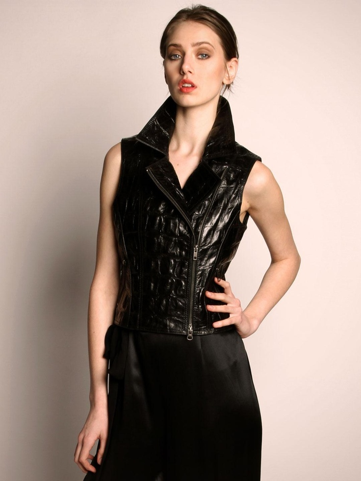 Totally feeling this leather vest!