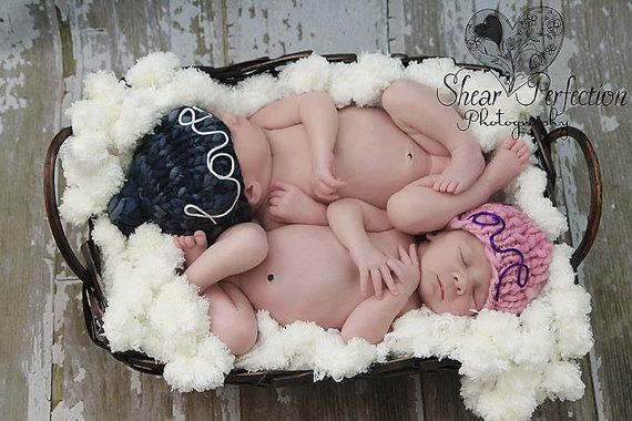 Happy BIRTHDAY, Gemini Twins! Photography Prop Baby Blanket 'Marshmallow' 2x2 Puff Rug