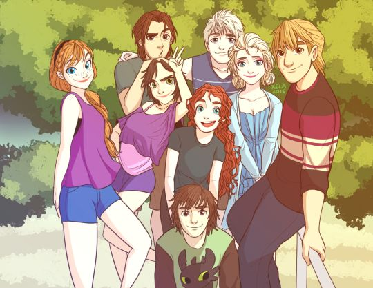 Yay Jelsa, Krisanna, merricup, and rapunzel and Flynn (forgot their ship name)