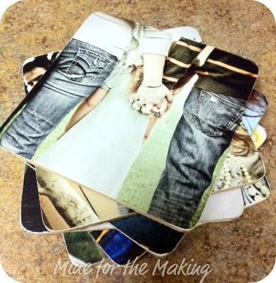 DIY Photo Coasters {tutorial}: Diy Coasters, Gift Ideas, Homemade Coaster, Coasters Tutorial, Photo Coasters, Diy Projects, Crafts