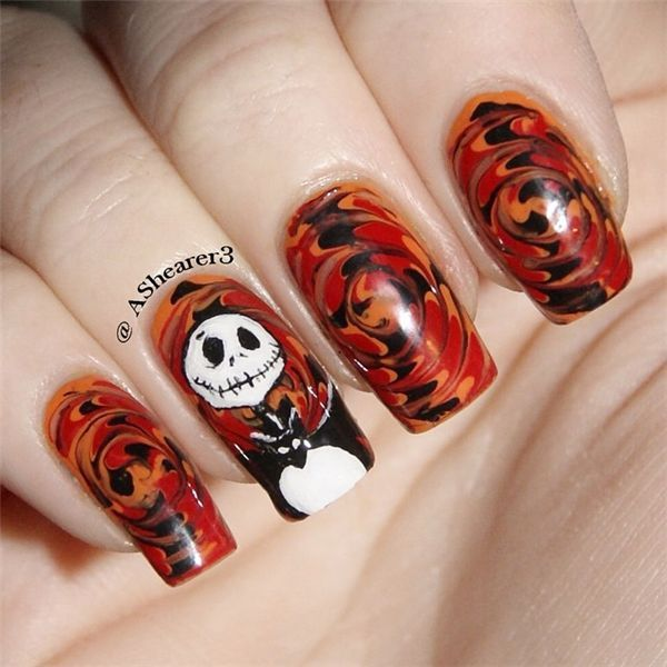 126 best halloween nail art design ideas images on pinterest fall halloween nail art desgin ideas 10 prinsesfo Choice Image