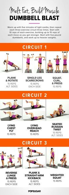 10 Full Body Dumbbell Workouts for Women to Shape Your Body At Home http://pinkworkout.com/full-body-dumbbell-workouts-women/ #workout #fitness