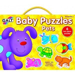 Puzzle pro nejmenší - domácí mazlíčci