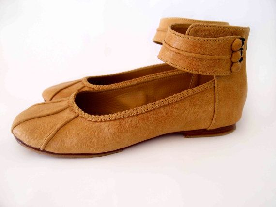 MUSE Ballet flats / leather shoes / cuffs / braided by BaliELF, $90.00