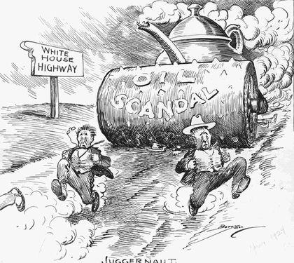 Teapot Dome Scandal political cartoon