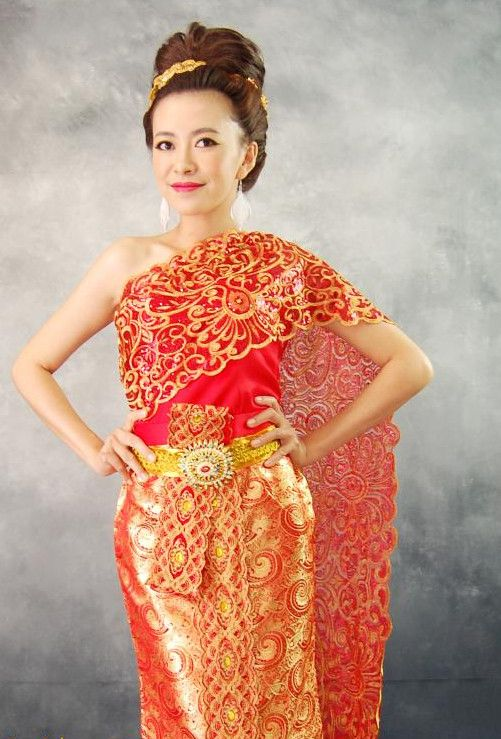 Perfect Thai Women And Thai Traditional Dress  Mew Nittha  Thai Style
