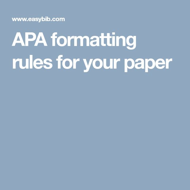 The 25+ best Apa format guide ideas on Pinterest Apa essay - paper formatting guidelines