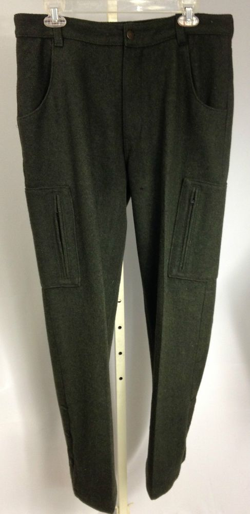 HFC Equipment Wool Hunting Pants Wool Blend Green Lined #HFCEquipment