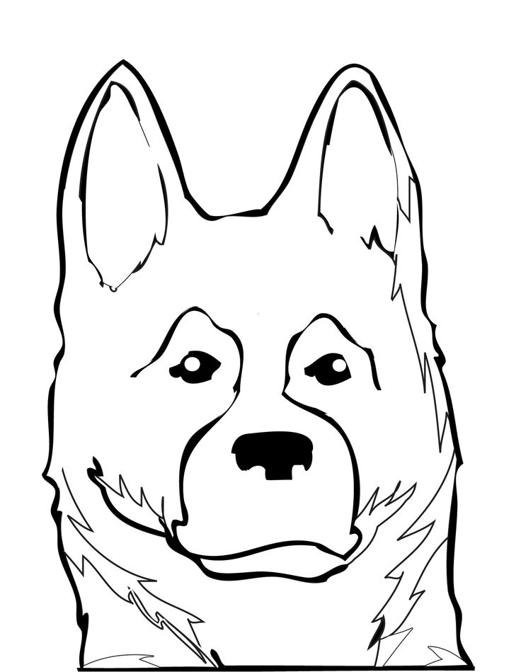 12 best images about art on pinterest dog paw prints for German shepherd coloring pages printable