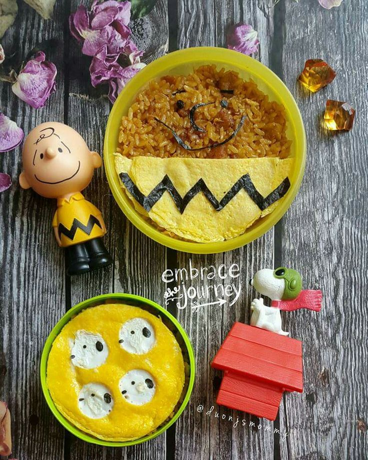 Charlie Brown & Snoopy Fried Rice Bento