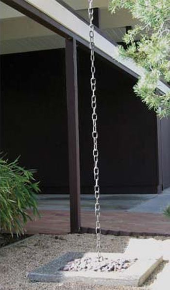 Rain chain. One pinner said: This is much prettier than the traditional