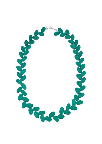 Fall of Vine Necklace - Teal $39.95 A subtle but colourful addition to your summer wardrobe, this fall of vine necklace is a staple. This necklace adds and instant pop to your outfit, crafted from painted wooden beading. #leethalfashion #accessories