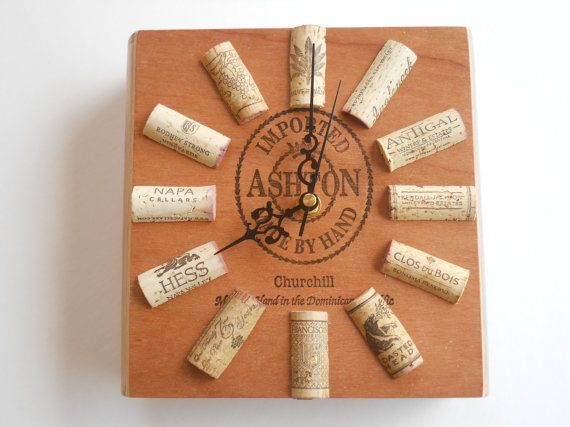 Cigar Box Clock  Made With Ashton Cigar Box by KatsWineCorkCrafts, $30.00
