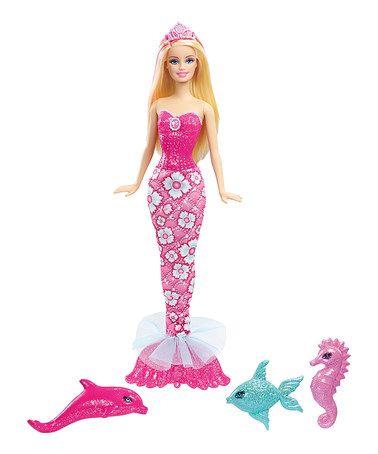 Look at this #zulilyfind! Barbie Mermaid Doll & Pets Set by Barbie #zulilyfinds