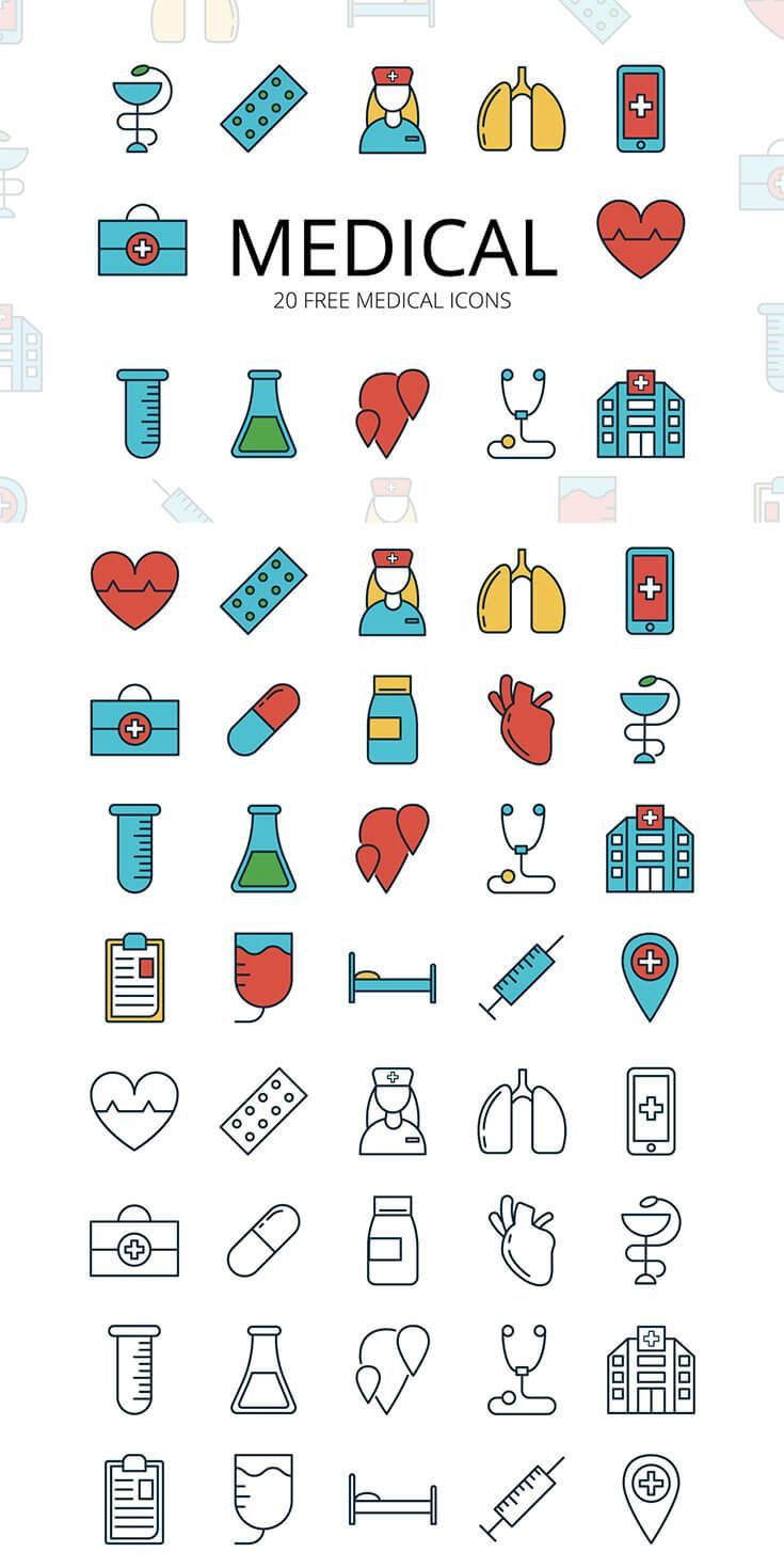 Free Medical Vector Icon Set   Icon Sets & Collection   Icon set