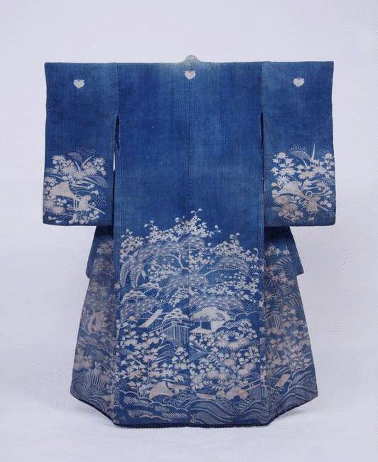 Elegant Blue Kimono