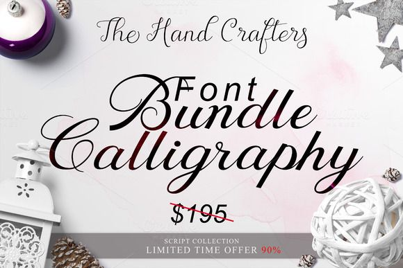 Font Bundle Calligraphy OFF 90% by Ijemrockart / Letterplay on @creativemarket