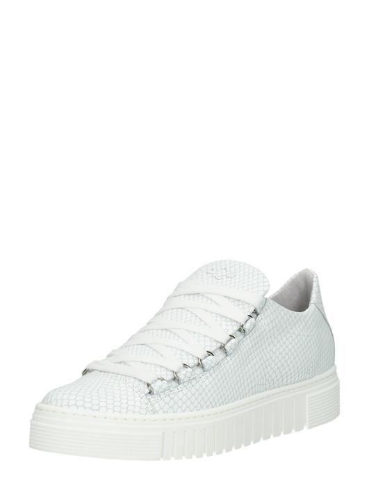 f78f3a66a31 AQA Trendy sneakers met unieke veterringen en plateauzool - wit ...