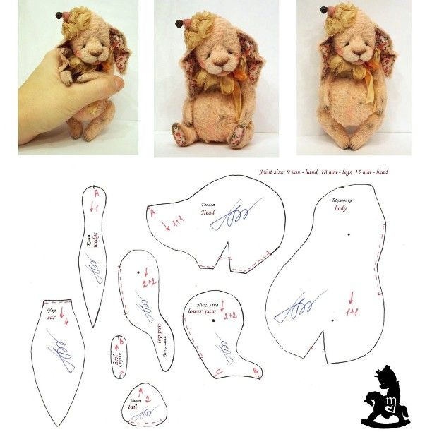 Выкройка в подарок)) My pattern as a gift)) #makarova #teddybear #pattern #bunny #gift