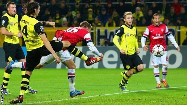 DuniaBet.Biz : Review Champions League 2014/2015 Grup D Dortmund Versus The Gunners