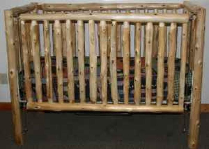 Cedar Pine Log Crib Handmade (1 left) - $300 (Dover, Oklahoma)