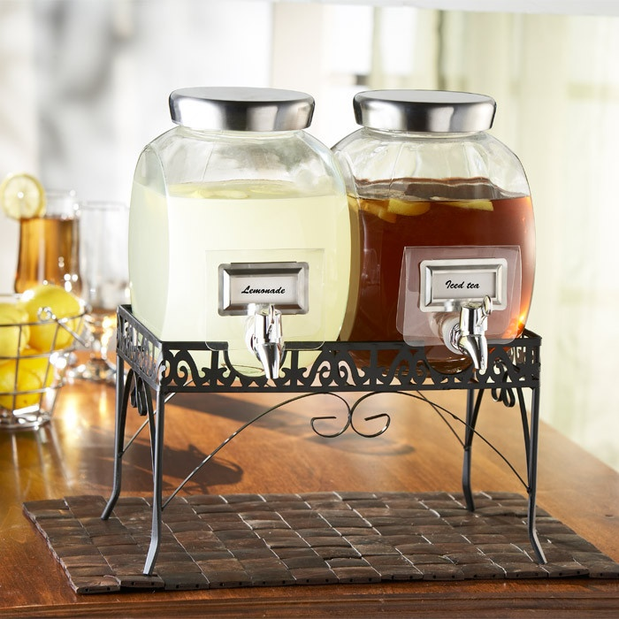 3 Piece Williamsburg Beverage Dispenser Set great for dining alfresco! $29.95 for 2 days only!