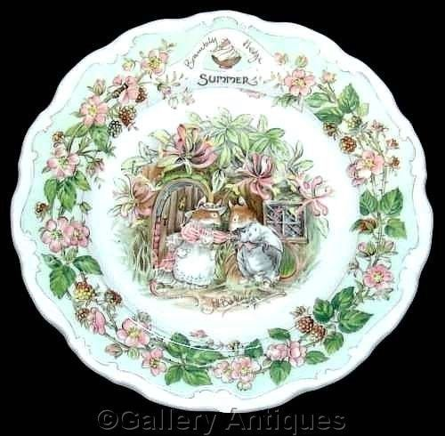 Royal Doulton BRAMBLY HEDGE four seasons SUMMER jill barklem 8  wall PLATE 1st