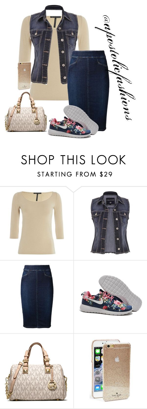 """""""Apostolic Fashions #1419"""" by apostolicfashions on Polyvore featuring Sarah Pacini, maurices, Citizens of Humanity, MICHAEL Michael Kors and Kate Spade"""