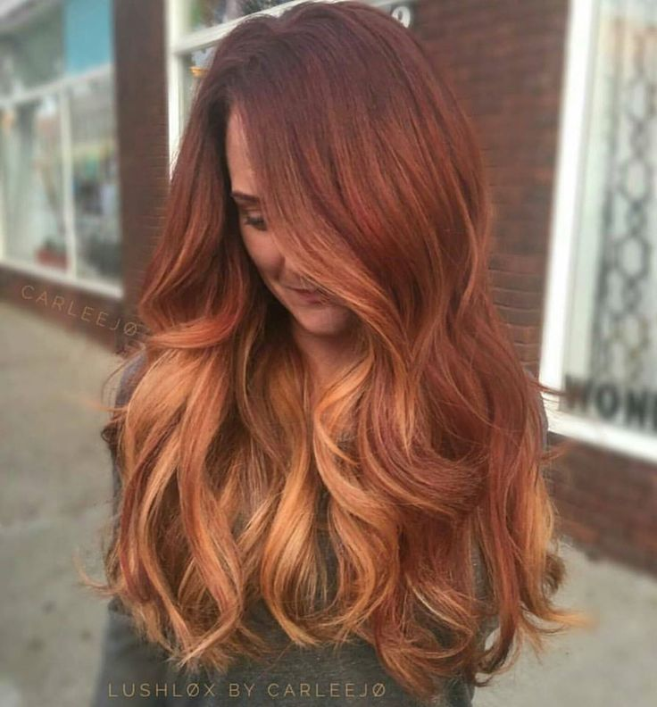 Natural red hair with blonde ombre trendy hairstyles in the usa natural red hair with blonde ombre urmus Gallery
