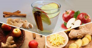 Água detox de maçã, canela e gengibre para queimar gordura
