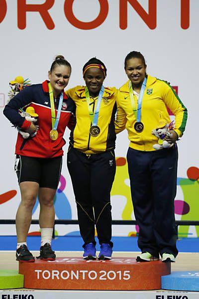July 14 - Weightlifting - Women's - 75 kg.  Chile's Fernanda Valdes - Silver. Colombia's Ubaldina Valoyes Cuesta - Gold. Brazil's Jaqueline Antonia Ferreira - Bronze.