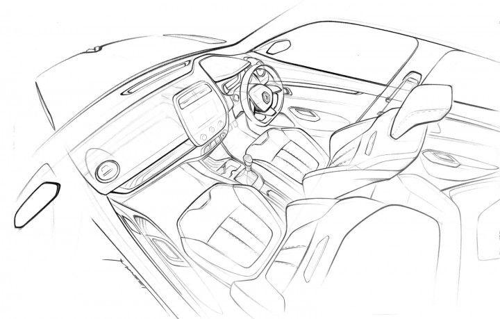 Renault KWID Interior Design Sketch