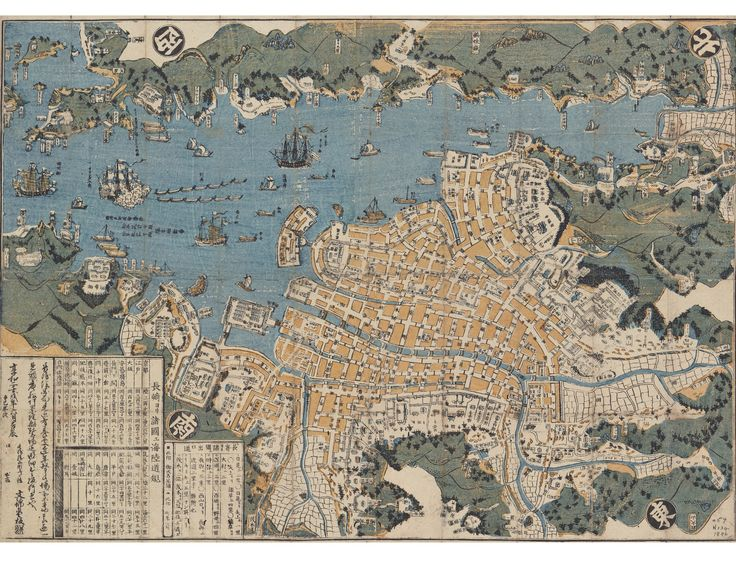 2123 best maps images on pinterest cartography maps and antique 1846 japanese map of nagasaki showing deshima island beinecke library publicscrutiny Choice Image