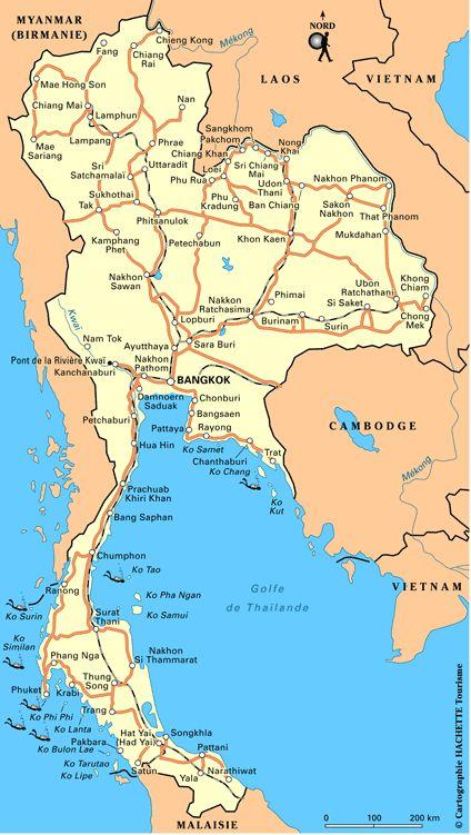 Plan Thaïlande : cliquez sur la carte Thaïlande pour l'agrandir