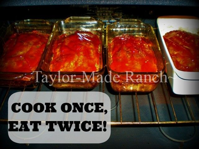 COOK-ONCE, EAT-TWICE. No Need To Cook From Scratch Every Day, You Can Have Home-Cooked Meals Easier. #TaylorMadeHomestead