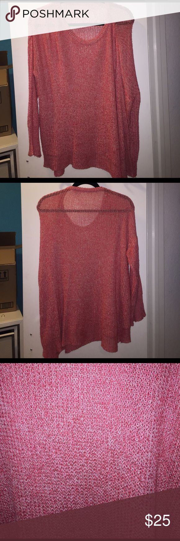 Brandy Melville sweater Pink and white knit brandy Melville sweater. The size is one size fits all, I'm typically a small in things and this is the perfect sweater with leggings! Brandy Melville Sweaters