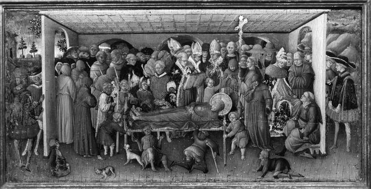 Bartolomeo di Tommaso. Funerali di San Francesco. The Walters Art Museum, Baltimora (USA)